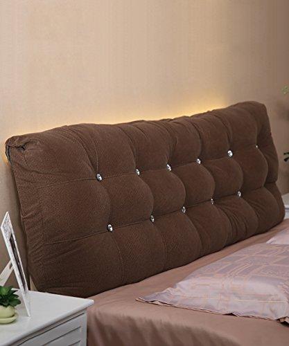 YSDHE Matratzenauflagen aus Baumwolle Weiche Kopfstützen auf dem Bett Kissen große Kissen Separate Doppelbettkissen/Full/Large/extra Large (Farbe : Braun, größe : 160 * 15 * 58cm)