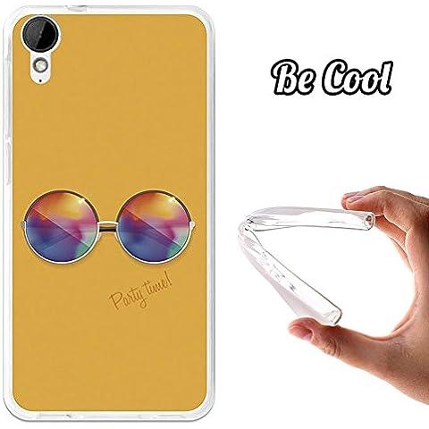 BeCool® - Custodia Gel Flessibile HTC Desire 825 Occhiali da Sole Rotondi Custodia silicone TPU morbida