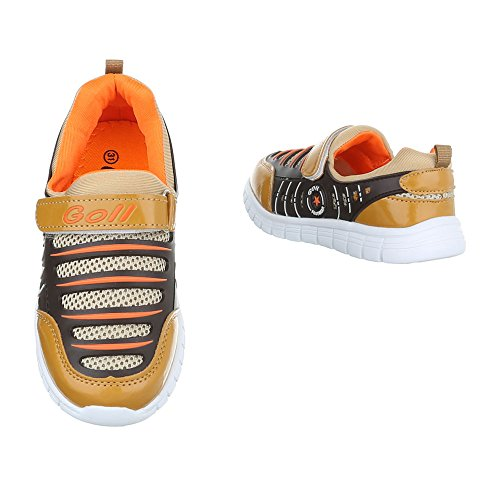 Ital-Design - Low-top Bambino Marrone/Arancione