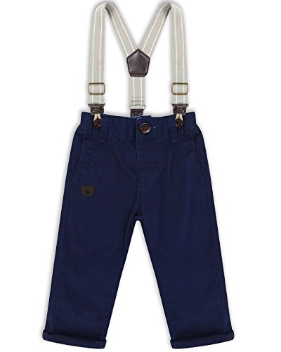 The Essential One - Baby Kids Boys - Chino and Braces Set - 12-18 Months - Navy Blue - EOT221