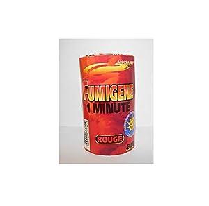 Pot de Fumigene MECHE 1min Catégorie F1 - Fete Evenement - ROUGE - 314