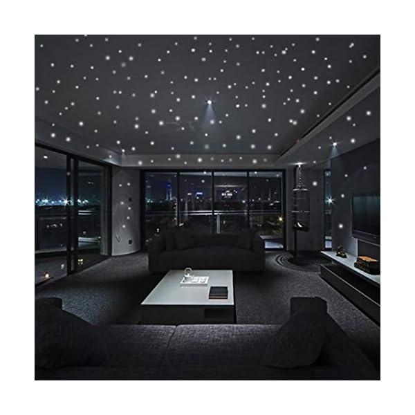 Yuutimko Glow In The Dark Star Wall Stickers 407Pcs Round Dot Luminous Kids Room Decor