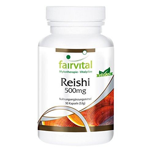 Reishi puro 500mg - VEGANO - Altamente dosificado - 90 cápsulas -...