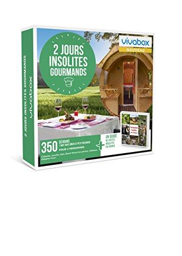 Vivabox- Coffret cadeau couple - 2 JOURS INSOLITES GOURMANDS - 350 week-ends...