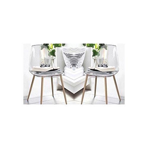 Zons 2Stück Stuhl transparent