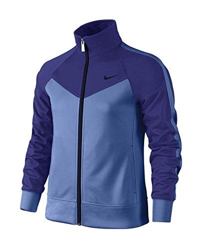 Nike T40T Track Suit YTH Jacke für Mädchen L Negro/Azul (Deep Night/Chalk Blue/Obsidian/Obsidian)