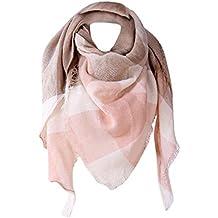 Koly Mujer clásica Inglaterra Chal Cachemira Otoño Tartán Lana Bufandas Triángulo Largo Scarves Scarf pañuelo en la cabeza Bufandas estolas y fulares gorro y bufanda