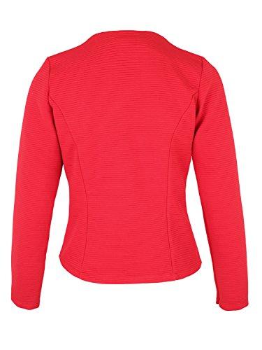 Danaest - Veste de tailleur - Blouson - Uni - Manches Longues - Femme XX-Large Rouge