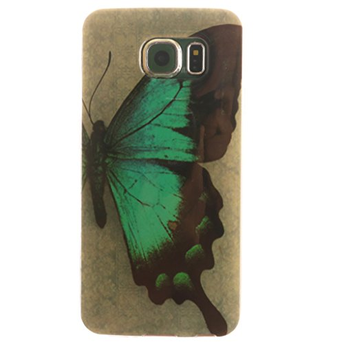 PowerQ Bunte Muster Serie Malerei Druck TPU Case Fall Hülle Etui < Black smile - für IPhone6SPlus IPhone 6SPlus 6Plus IPhone6Plus >        Zeichnung Tasche weiche Silikon Abdeckung Soft Silicone Cover Handyt Half Butterfly