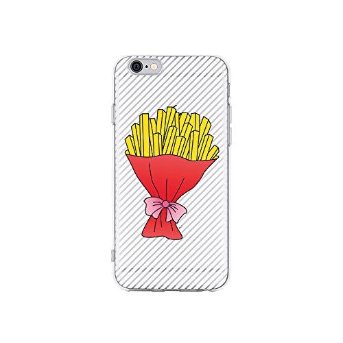 licaso Apple iPhone 6 Handyhülle Smartphone Apple Case aus TPU mit Pommes Frites Fritten Strauß Print Motiv Slim Design Transparent Cover Schutz Hülle Protector Soft Aufdruck Lustig Funny Druck