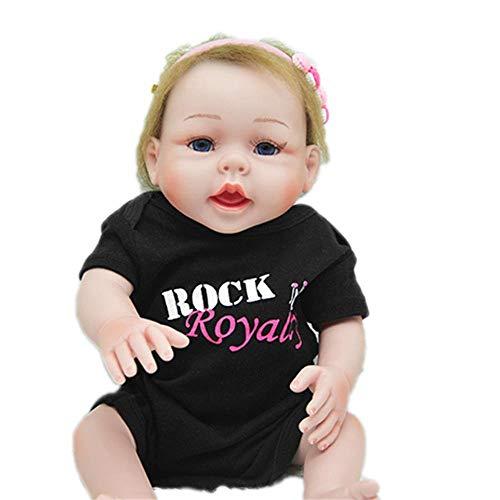 Puppenkissen Reborn Baby Puppe Spielzeug Lebensechte Simulation Silikon Körper Vinyl Realistische Neugeborenen Geburtstagsgeschenk Vorhanden Früherziehung 52 cm Puppe-27510 Spielhaus Cartoon-Plüschkis (Puppen Baby Silikon-körper Reborn)