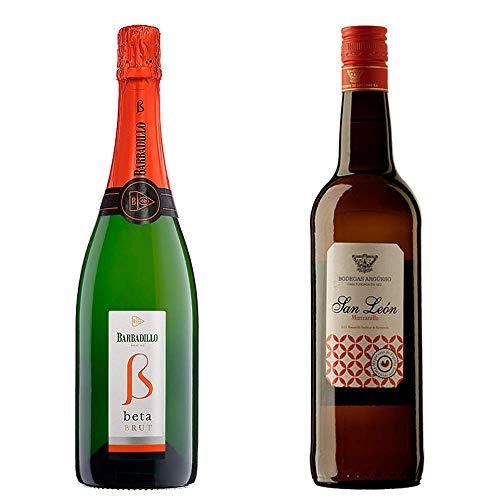 Beta Brut Y San León - Vino De La Tierra De Cádiz Y D. O. Manzanilla De Sanlúcar De Barrameda - 2 Botellas De 750 Ml