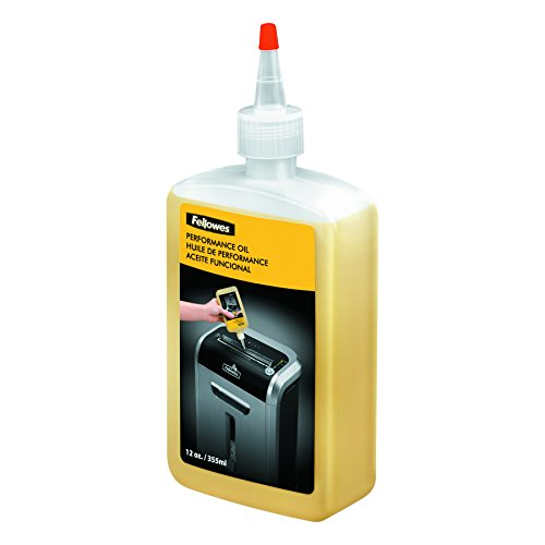 Fellowes 35250 - Aceite lubricante para destructoras de papel de 355 ml, amarillo transparente