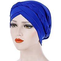 STRIR Sombrero turbantes para Mujer, turbantes pañuelos Cabeza Mujer para Cancer oncologicos perdida de Cabello Turbante Plisado Sombrero Abrigo del Pelo
