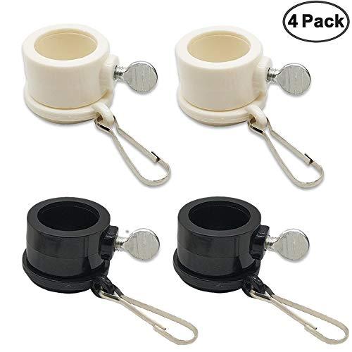 JEZOMONY Fahnenmast Befestigungsringe 1 Pol Durchmesser PVC Fahnenmast Rotierende Ringe Fahnenbefestigung Ringe 360 ° Anti Wrap Verschluss Hardware 4 Stück -
