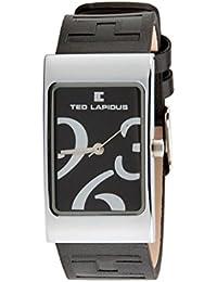Ted Lapidus - D0442RNAN - Montre Femme - Quartz Analogique - Bracelet en Cuir Noir