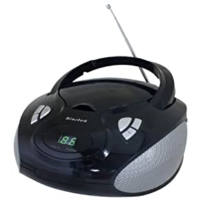 Biostek Boom Box Lecteur Portable Stéréo CD 2 x 1,2 W Noir