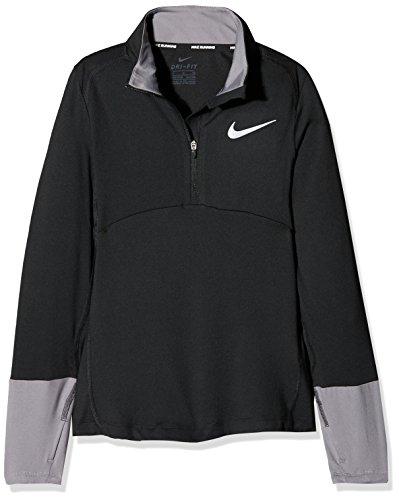 Nike Mädchen Dry Element Half Zip Langarm Oberteil, Gunsmoke/Black/(Reflective Silv), M (Top Zip Nike)
