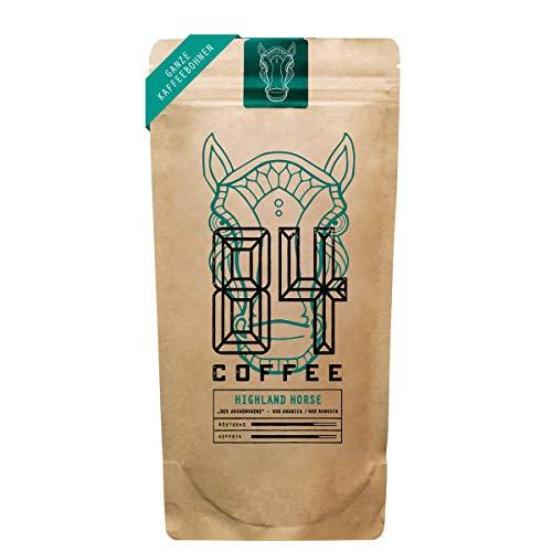 84 Coffee - Vietnamesischer Espresso Blend - Highland Horse - Dunkel geröstet - fairer & direkter Handel - frisch & schonend geröstet - Kaffeebohnen (500g)