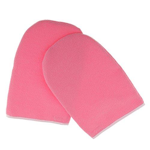 MagiDeal 1 Paar Paraffinwachs Spa Handschuhe Feuchtigkeitsspendende Handschuhe, Handmaske, Hand Peeling Maske Gloves, Handpflege, Rosa