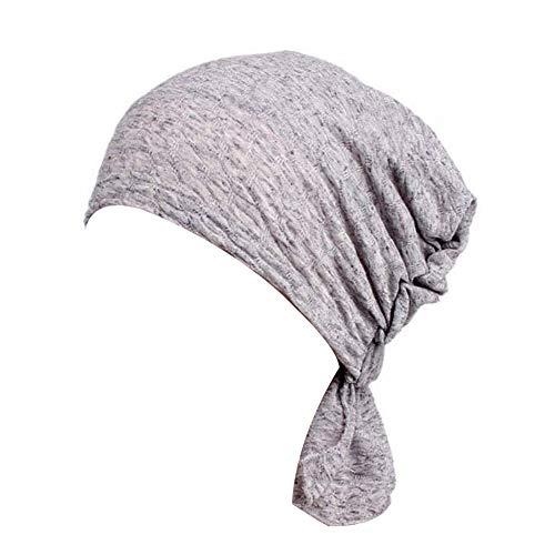 Turban lässige Chemotherapie Krebs elastischen Kopf Blase Baumwolle Capes nationalen Jacquard Wildtuch Tuch Stirnband Außenschlauch Maske multifunktionale Kappe bei Nacht Sport Hut,meshlightgray -