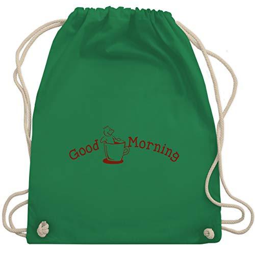 Sprüche - Good Morning - Unisize - Grün - WM110 - Turnbeutel & Gym Bag