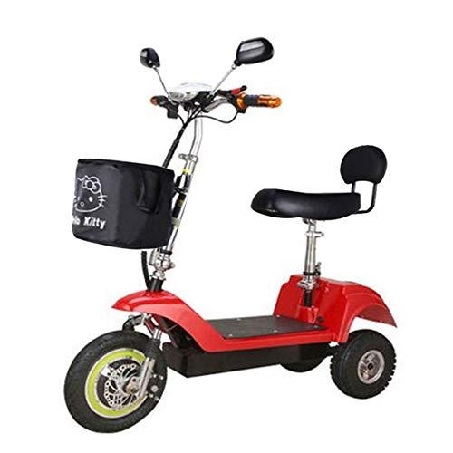AA-folding electric bicycle ZDDOZXC Elektrisches Roller-erwachsenes Mini Elektrisches Dreirad, Das Lithium-Batterie-Batterie-Auto Faltet Kann Gewicht 100kg standhalten (mehrfache Farbe)
