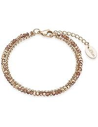 s.Oliver Damen-Armband Collection Edelstahl teilvergoldet Kristall mehrfarbig 20 cm - 2018360