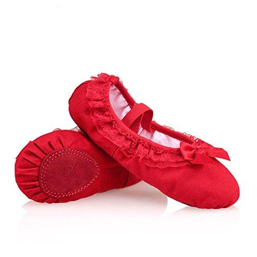 DCL, Scarpe da ballo bambine Rosso