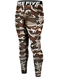 JustOneStyle 120 - Leggings de compresión para hombres, para running, color negro