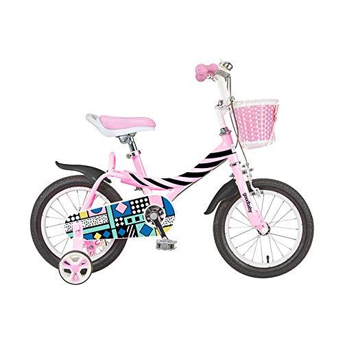 Axdwfd Bici per Bambini 12/14/16'Bici per Bambini per Ragazze di 2-7 Anni, Bicicletta da Ragazza con Freno A Coaster da Allenamento, Bambini in Bicicletta, 85% Montato (Size : 16in)