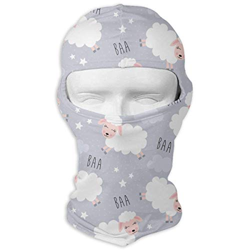 Hoklcvd Sweet Dreams Sheep Animal Full Face Mask Sun Dust Wind Protection Durable Breathable Seamless Face Mask Bandana New11