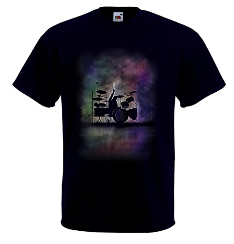 Drummer T-Shirt Drum Kit Percussionist Tee Shirt in (2XXL)