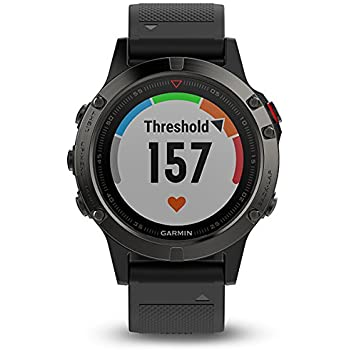 Garmin fēnix 5 Sapphire Bluetooth Black Sport Watch – Sport Reloj (Black, Polymer, Stainless Steel, Water Resistant, Silicona, Sapphire, 10 ATM)