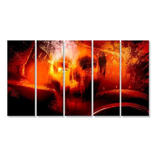 uf Leinwand Horror-Schädel, Horror-Hintergrund für Halloween-Konzept und Film-Poster-Projekt Wandbild Poster Leinwandbild ()