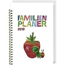 Die kleine Raupe Nimmersatt Familienplaner-Buch A5 - Kalender 2019