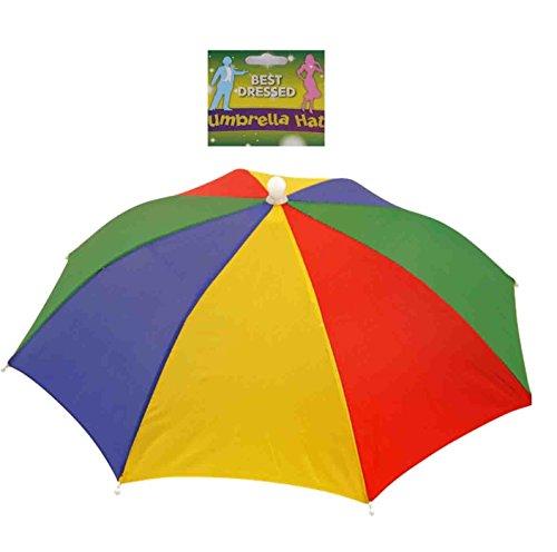 Sombrero portátil para sombrero de paraguas de 50,8 cm de diámetro, ajustable para la cabeza, manos libres, pantalla impermeable, para pesca, jardinería, fotografía, caminar, Multicolor