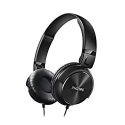 Philips SHL3060BK/00 On-Ear DJ Style Monitoring Headphone (Black)