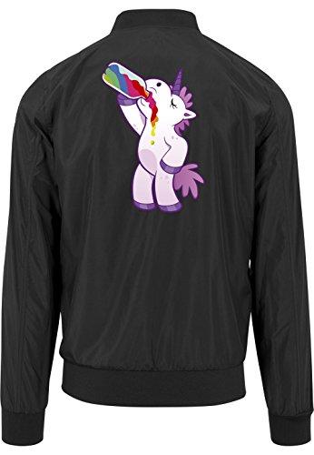 Drinking Unicorn Bomberjacke Black Certified Freak-XXL