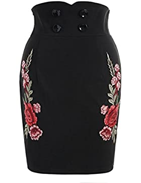 ❤️Faldas, Challeng Imprimir Ladies Plisado- Cintura elástica-Falda larga Verano-Short, Mini Skirt&& Falda del...