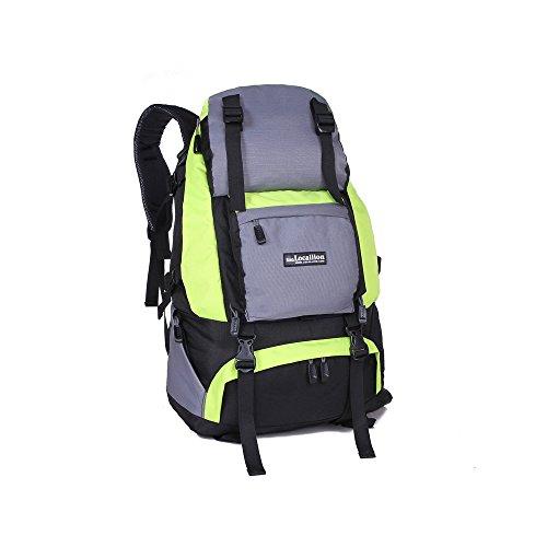 Tofern 40L Multisportrucksack Wasserdicht Unisex Outdoor Vrschleißfest Reisetasche Rucksäcke Wanderrucksäcke Trekkingrucksäcke Kampfrucksack Alpinrucksack Schultaschen,16 Farben grün