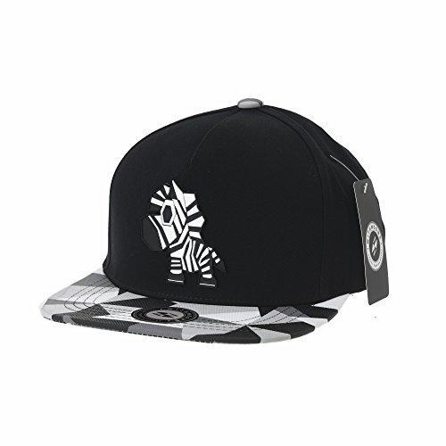 WITHMOONS Baseballmütze Mützen Caps Snapback Hat Zebra Paper Fold Patch Geometry Pattern Flat Brim Cotton Baseball Cap TR2936 (Black) (Yankee Gym Bag)