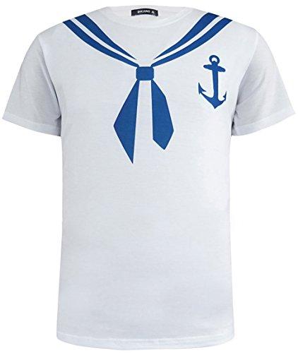 Funny World Maglietta T-Shirt Costume da Marinaio di Uomo (L)