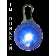 Collar de perro llevó el collar colgante de lámparas LED en azul NUEVO PRECORN / marca