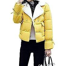 49c12257f0e BOLAWOO Mujer Pluma Elegante Colores Sólidos Colmar Cálido Chaqueta  Acolchada Otoño Mode De Marca Invierno Manga