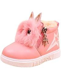 Zapatos Niña invierno Amlaiworld Moda zapatillas botas de chicas Zapatos calientes del bebé Niñas (28, Rosa)