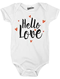 Hello Love Adorable Heart Infant Baby Creeper Bodysuit