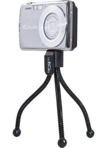 Original Luxburg® Kameraständer für Digitalkameras flexibel 11 cm 50g Schwarz . Von e-port24®.