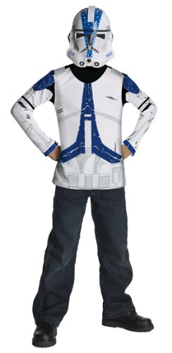 Star Wars Kinder Kostüm Clonetrooper Klonkireger Shirt Maske 5-7 - Clonetrooper Kind Kostüm