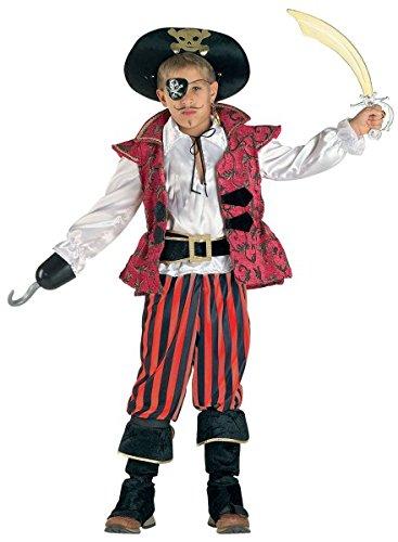 Premium Piraten-Kostüm für Jungen mit Hut, Jacke und Stulpen | Hochwertiges Karnevals-Kostüm / Faschings-Kostüm / Kinderkostüm | Perfekte Seeräuber Verkleidung für Karneval, Fasching, Fastnacht (Größe:116) (Matrosen Hüte Billig)